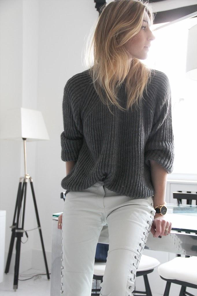 pull et pantalon loose sont au programme cet hiver rose a dit. Black Bedroom Furniture Sets. Home Design Ideas