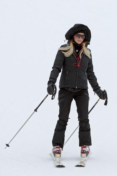 paris hilton aspen ski