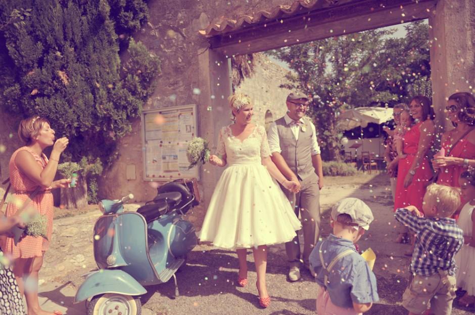 Zoom sur la tendance mariage vintage rose a dit - Deco style guinguette ...